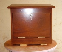 Small hardwood letterbox