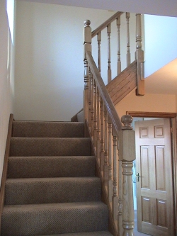 Oak traditional staircase